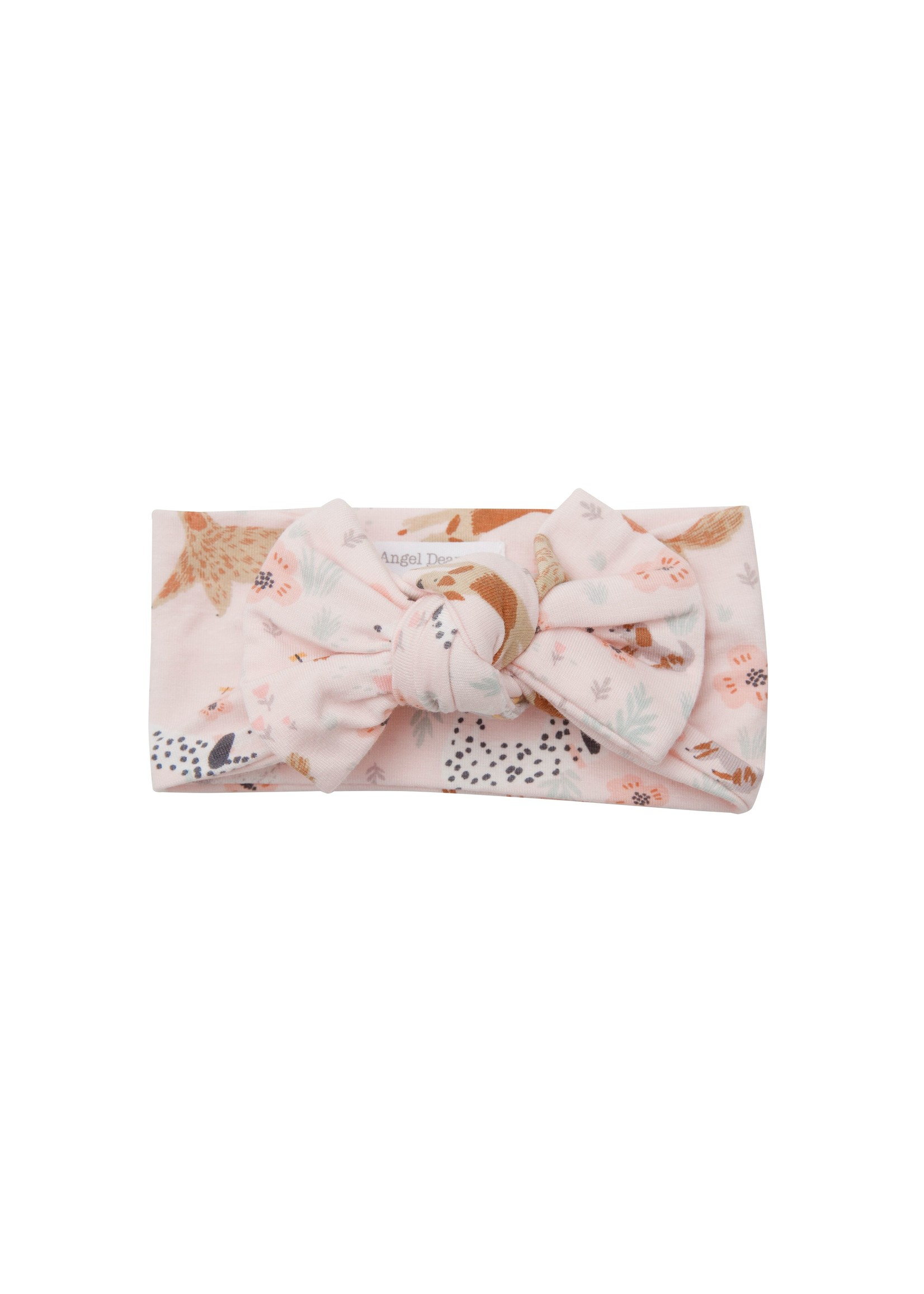 Angel Dear Floral Pups Headband Pink