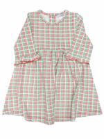 Ishtex Ishtex Red/Green Plaid Empire Dress
