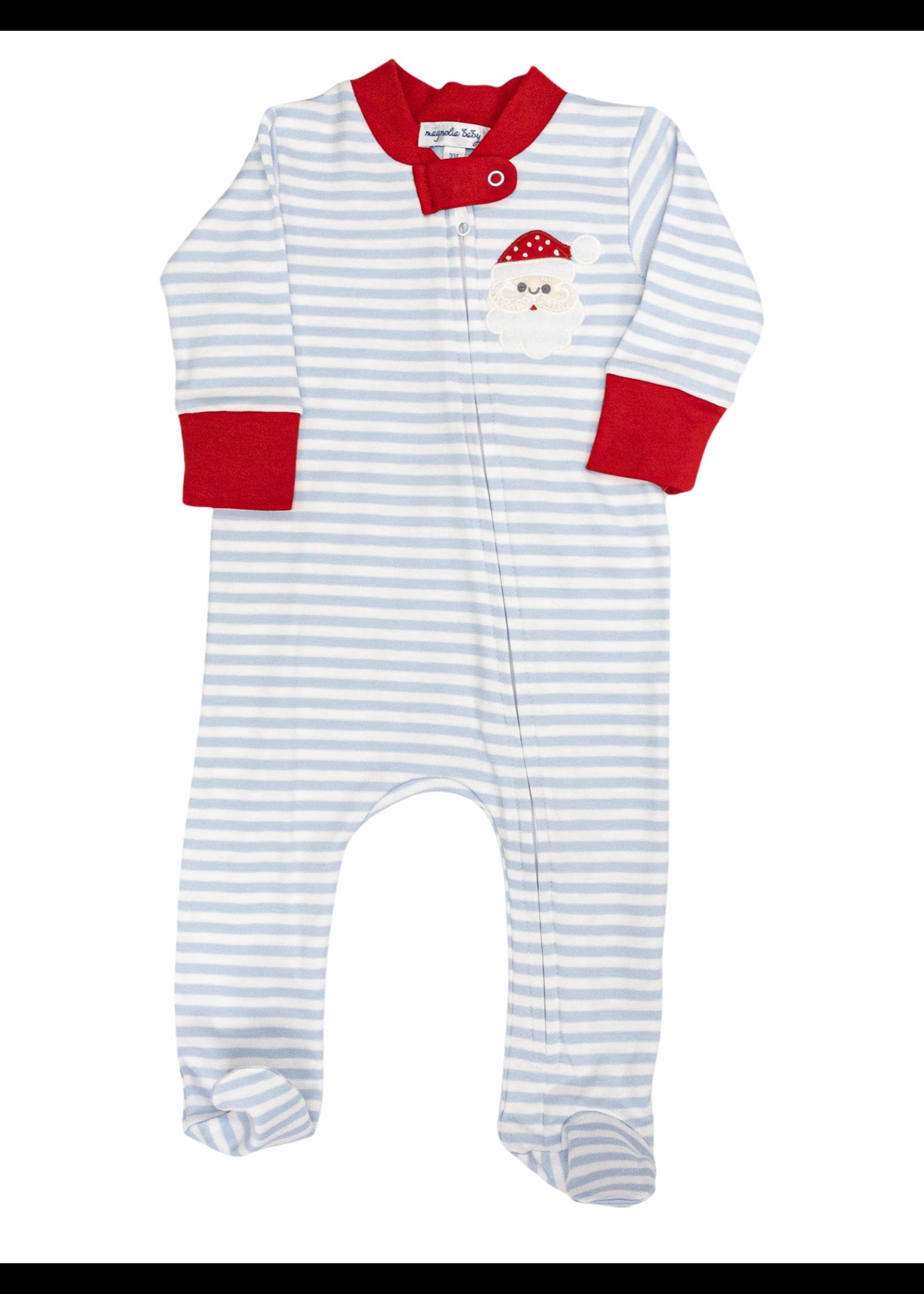 Magnolia Baby Santa Clause  Zipped Pajama