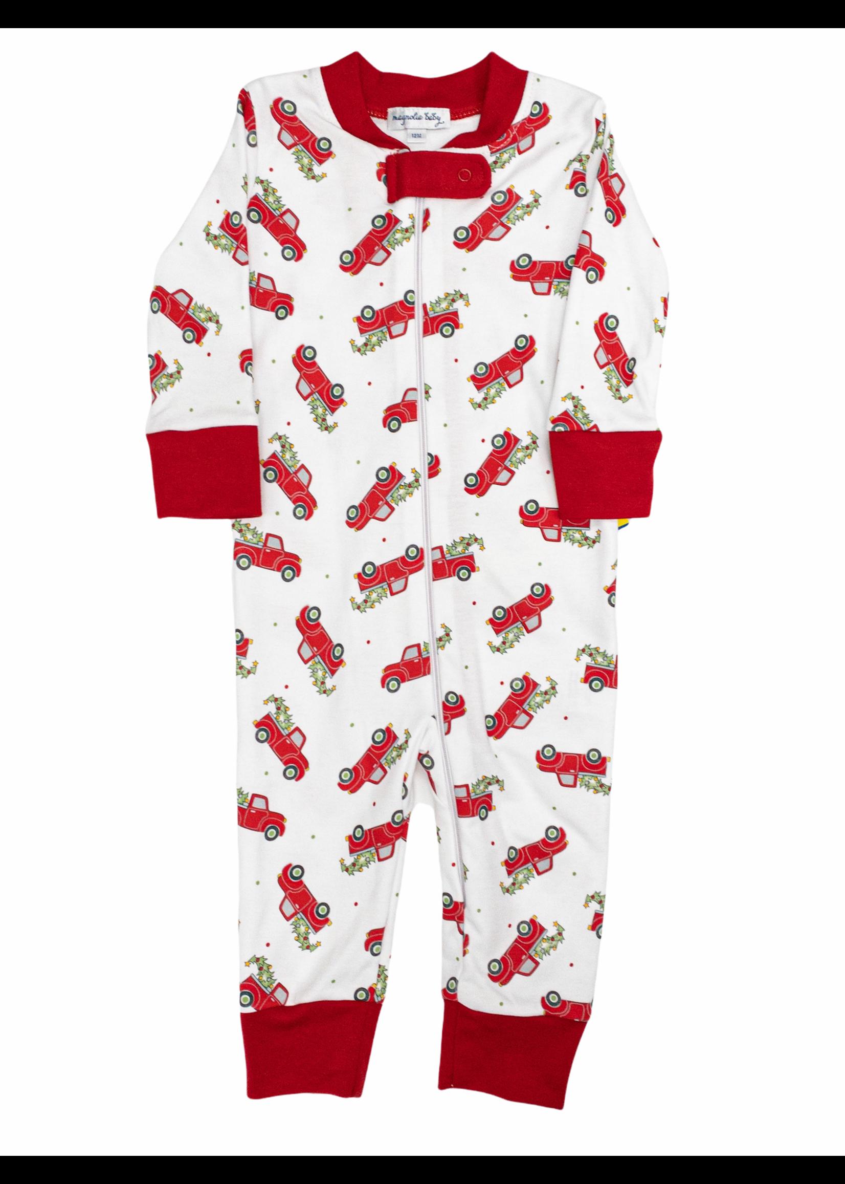 Magnolia Baby Christmas Traditions Zipped Pajama