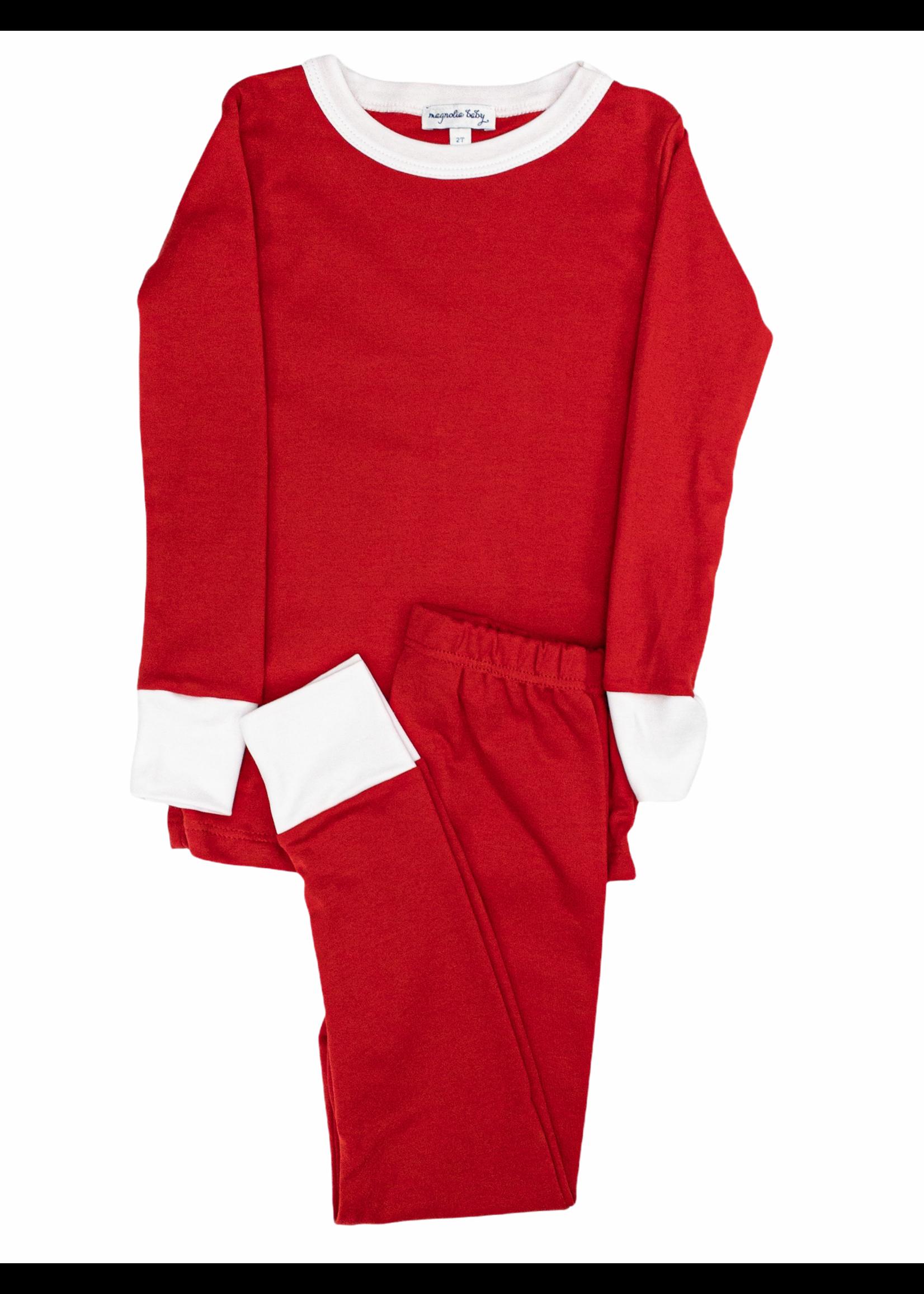 Magnolia Baby Solid Red Basic Long Pajama