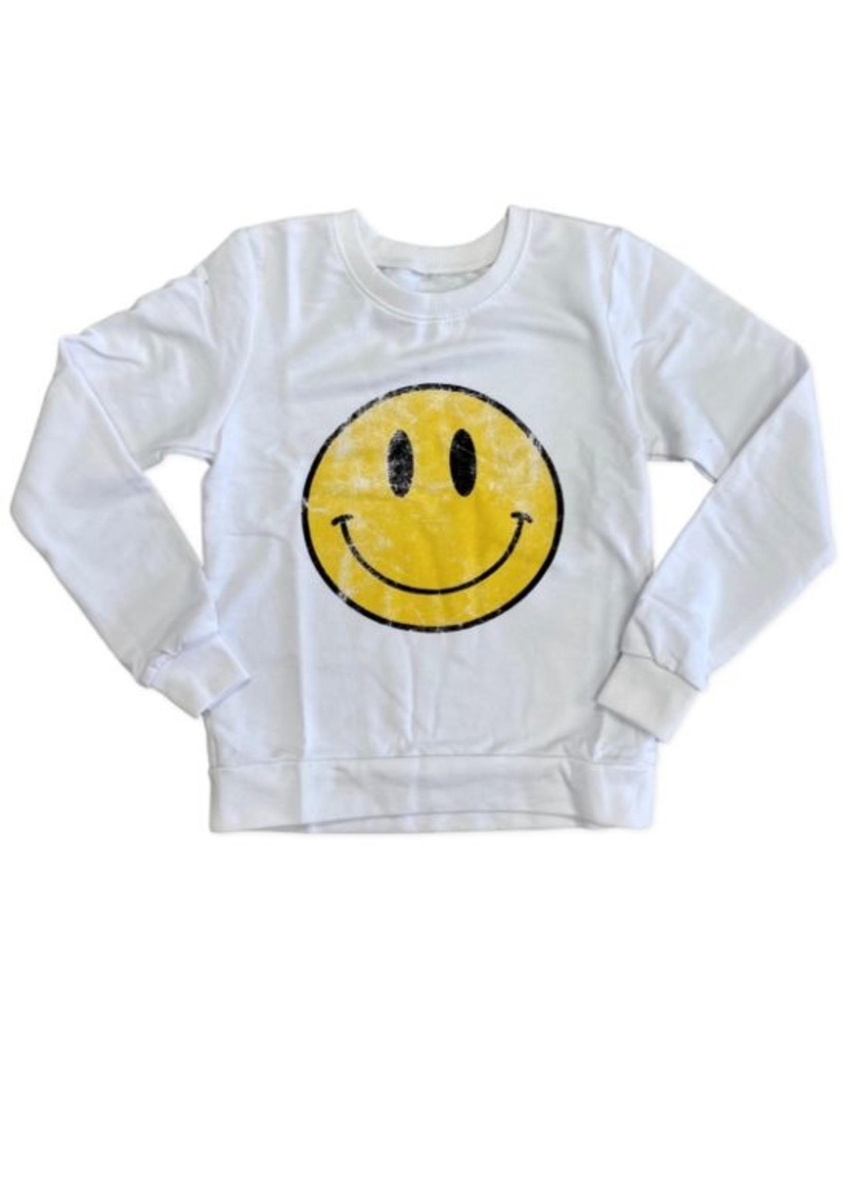 Prince Peter Prince Peter Vintage Smiley Sweatshirt - White