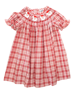 True Smocked Santa Bishop Dress