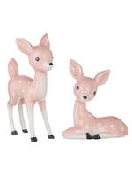 "Raz Imports 8.75"" Iced Vintage Pink Deer"