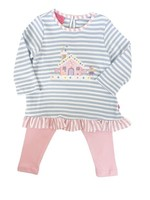 Claire and Charlie Gingerbread Stripe Tunic Leggings