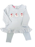 Claire and Charlie Santa Claus Tunic w/ Leggings