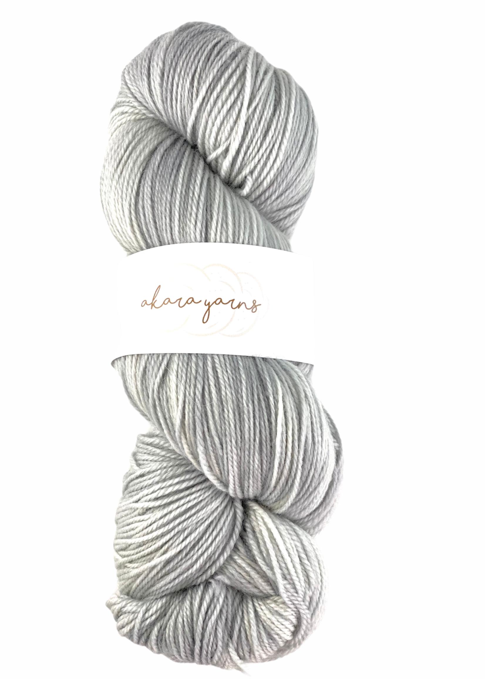 Akara Yarns Akara Yarns Merino Sock Yarn Silver Lining