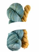 Akara Yarns Akara Yarns Sock Kit - Sage / Gold Coin