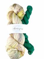 Akara Yarns Akara Yarns Sock Kit - Sugar Cookies / Emerald