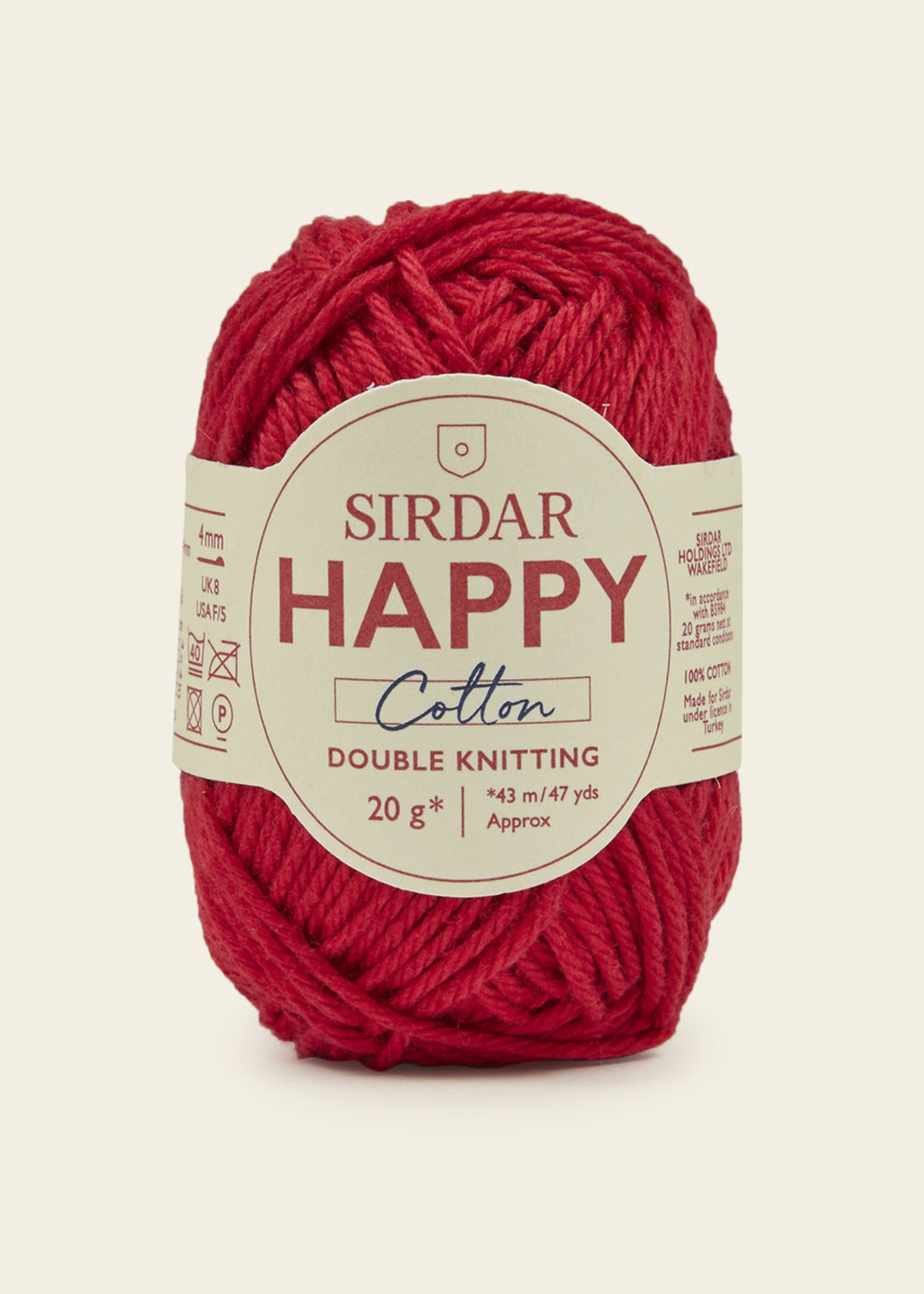 Sirdar Sirdar Happy Cotton #754 Cherryade