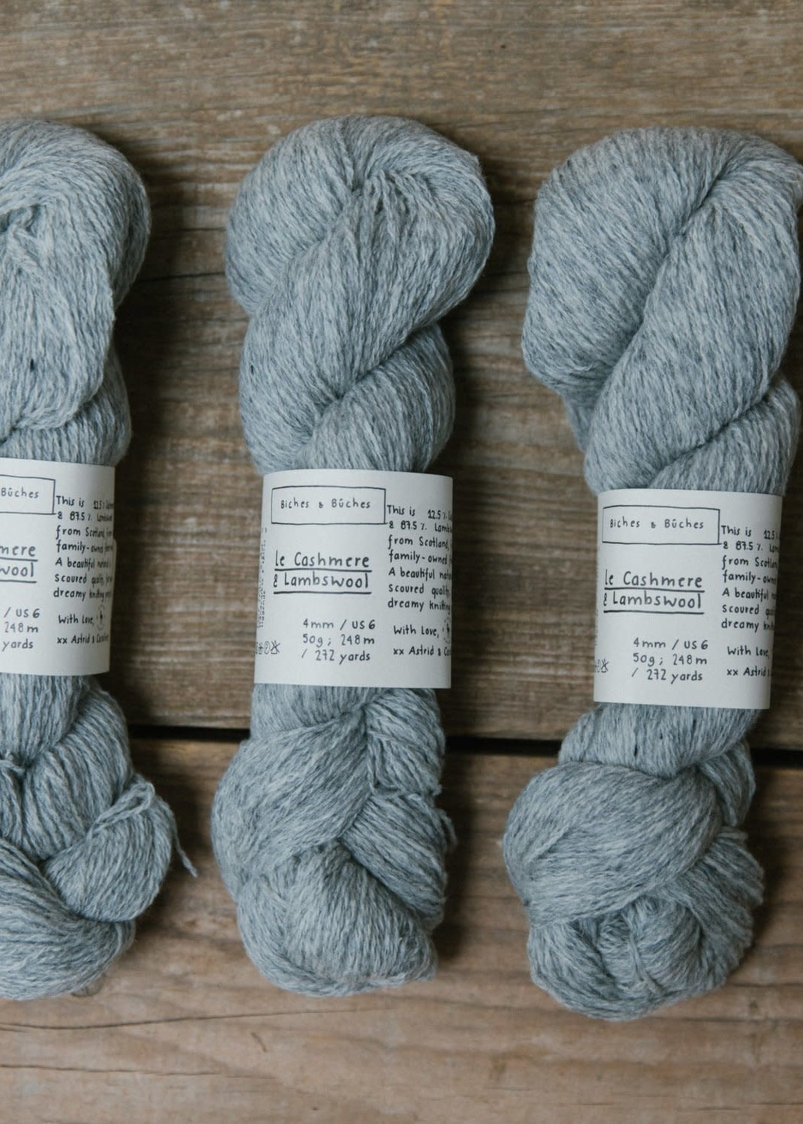 Biches & Bûches Biches & Buches Le Cashmere & Lambswool Light Grey