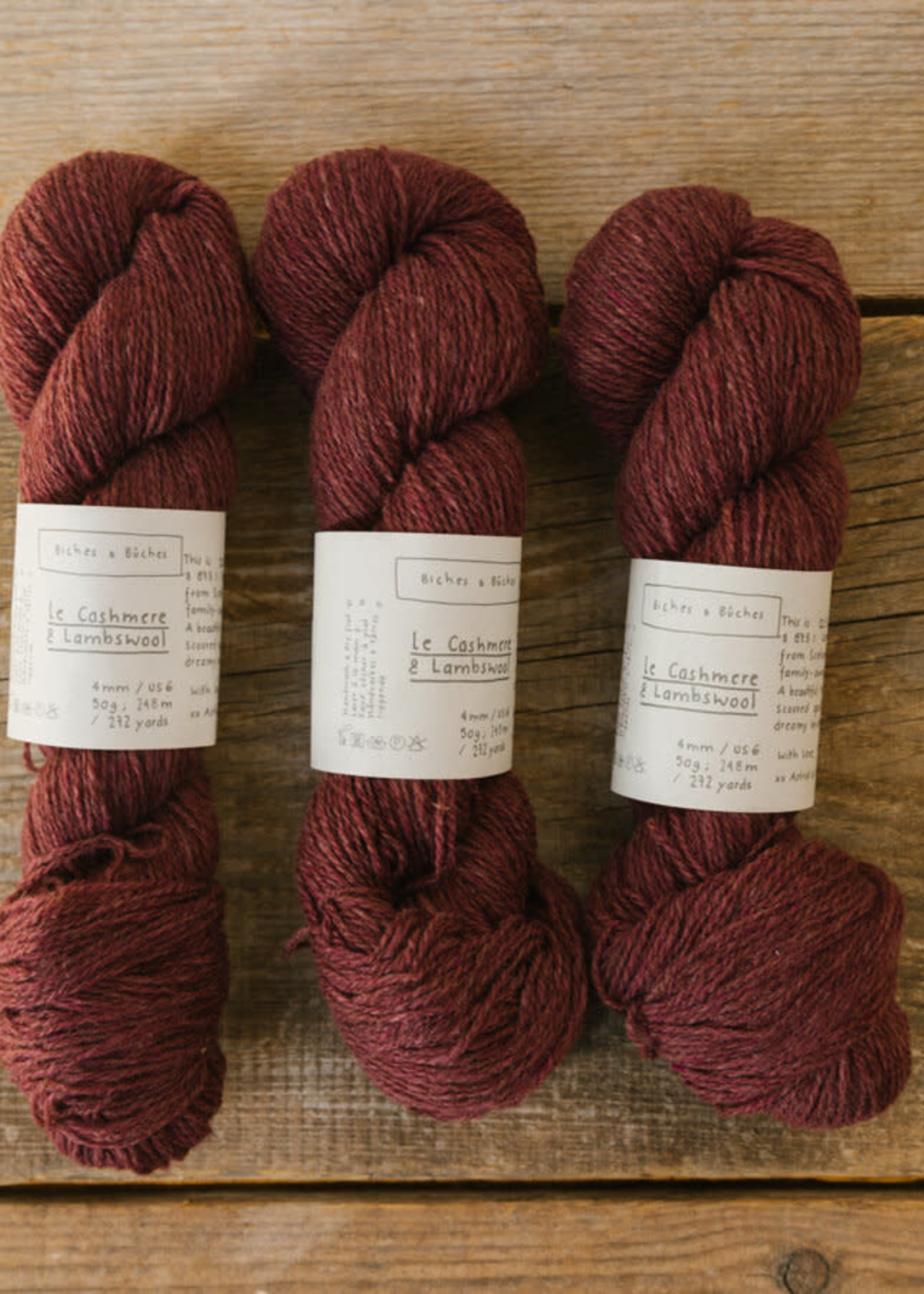 Biches & Bûches Biches & Buches Le Cashmere & Lambswool Soft Medium Burgundy