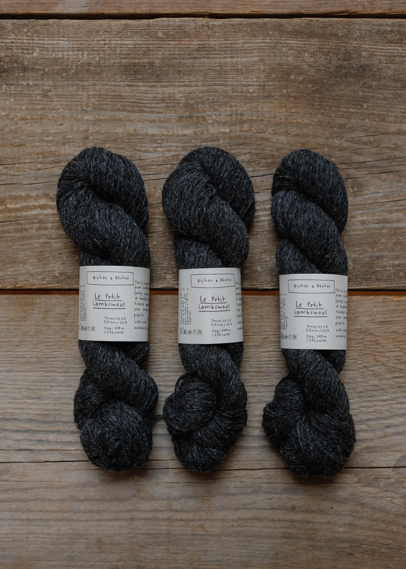 Biches & Bûches Biches & Buches Le Petit Lambswool Dark Grey