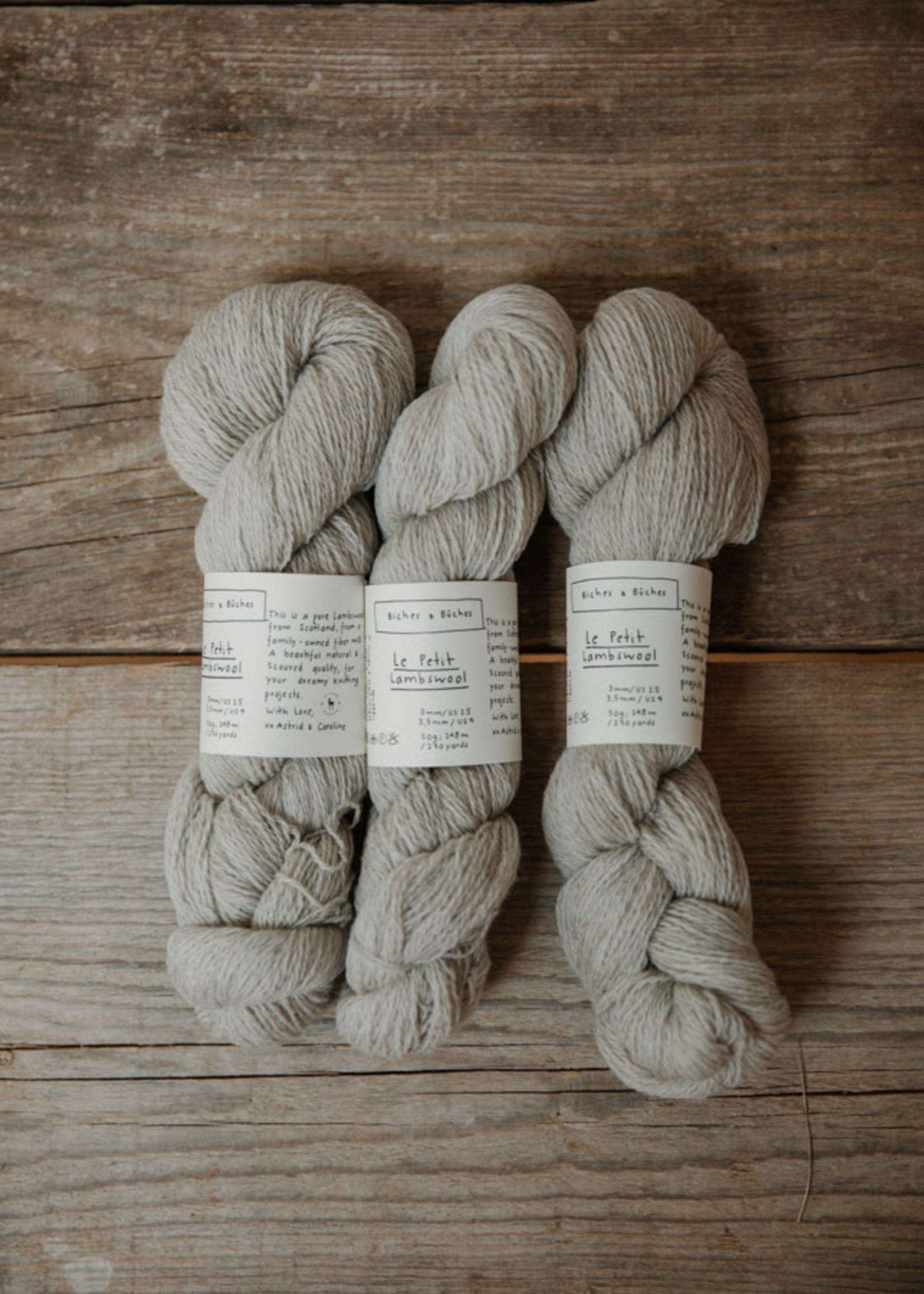 Biches & Bûches Biches & Buches Le Petit Lambswool Grey Beige