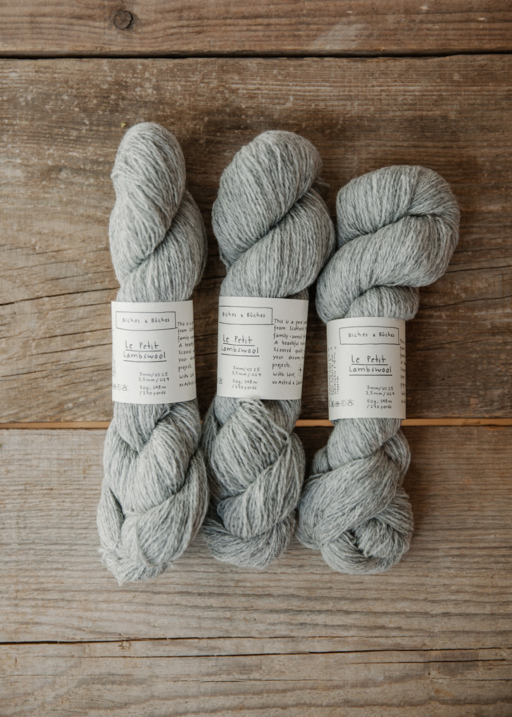 Biches & Bûches Biches & Buches Le Petit Lambswool Light Grey