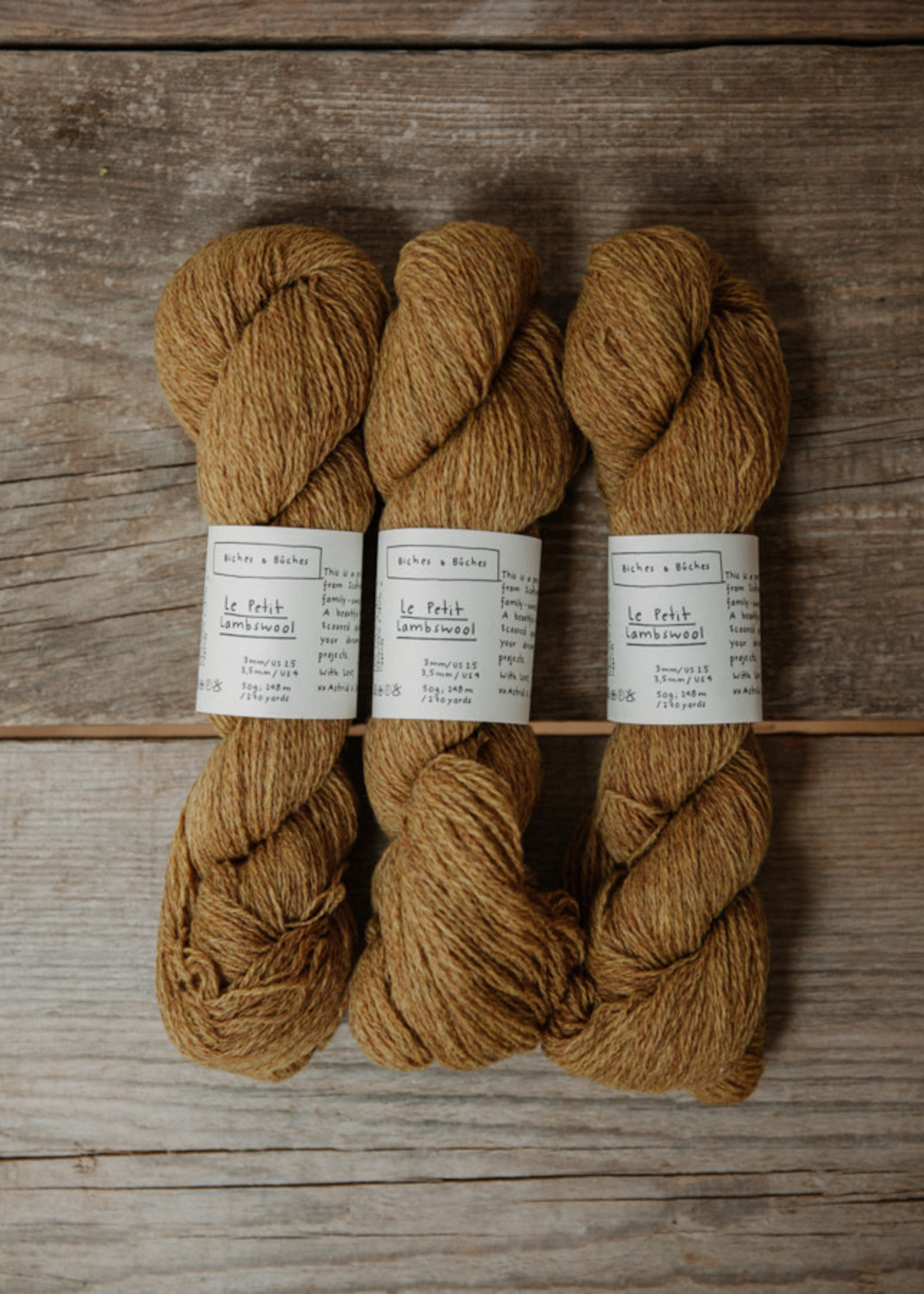 Biches & Bûches Biches & Buches Le Petit Lambswool Yellow Mustard