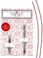 ChiaoGoo ChiaoGoo Twist Shorties Combo Pack (Red), 2.5 mm