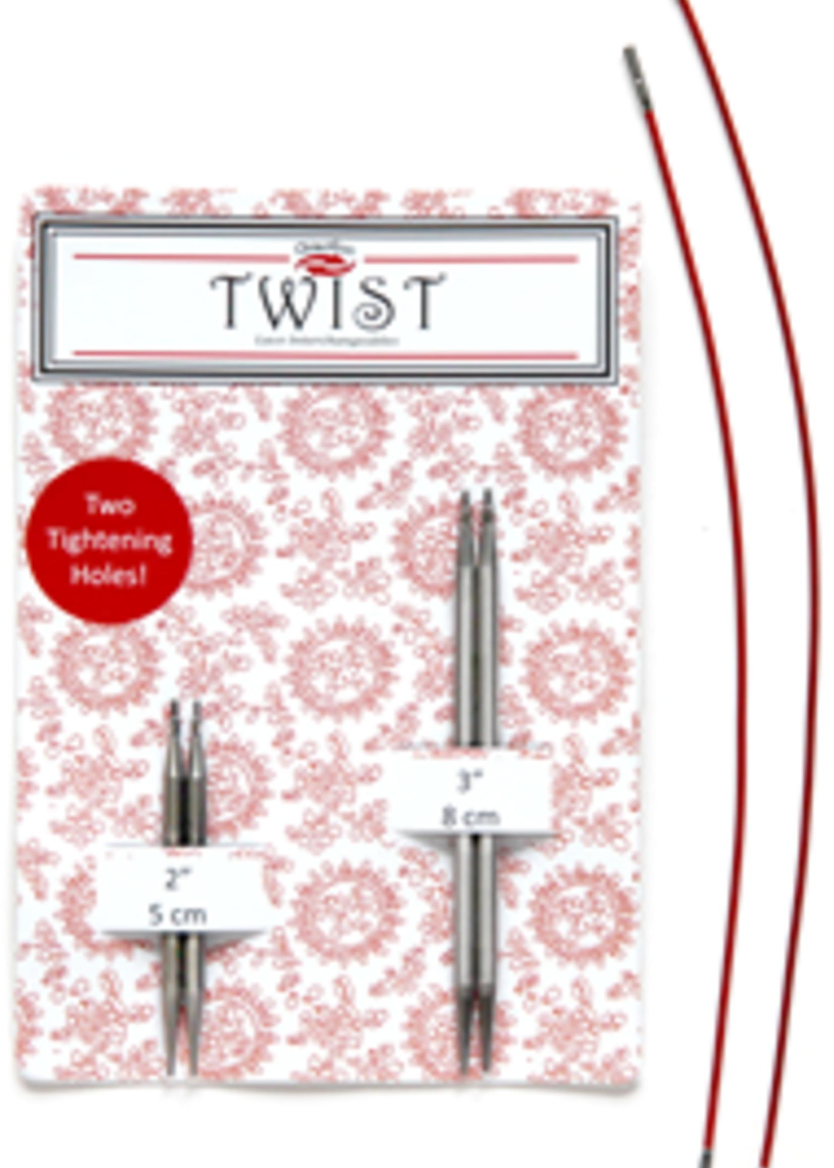 ChiaoGoo ChiaoGoo Twist Shorties Combo Pack (Red), 2.75 mm