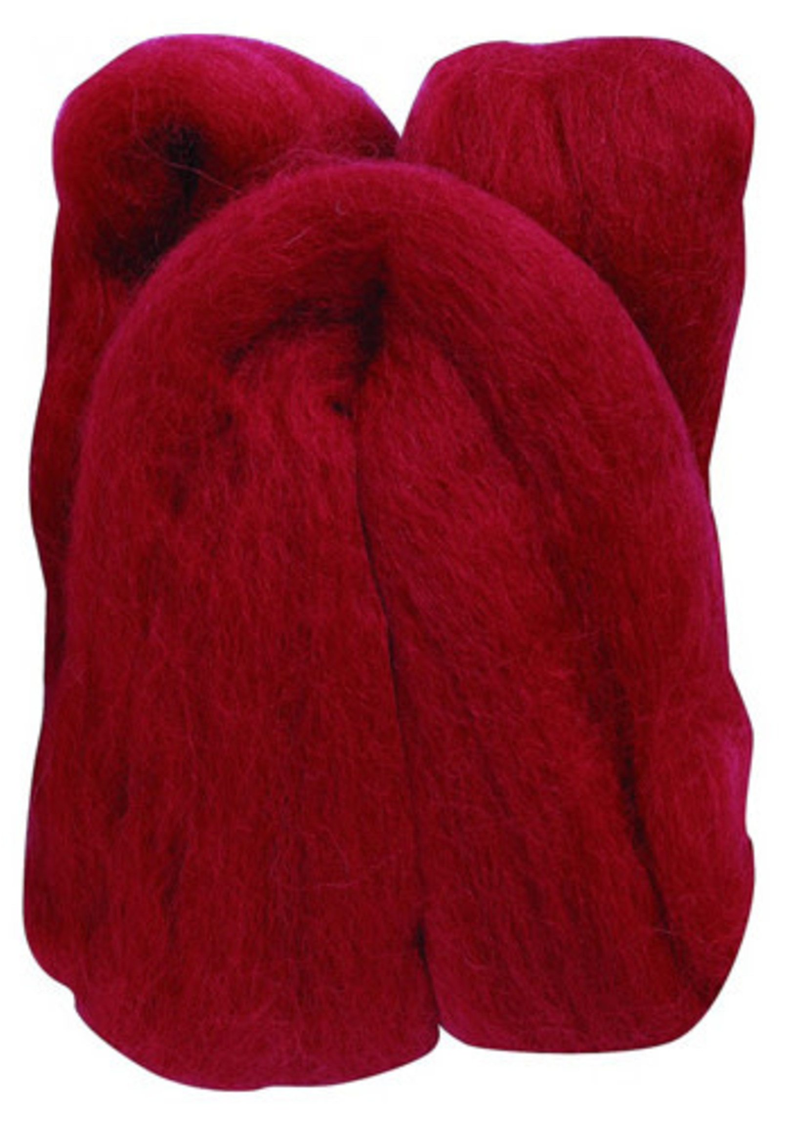 Clover Clover Roving - Wool - #7927 Red