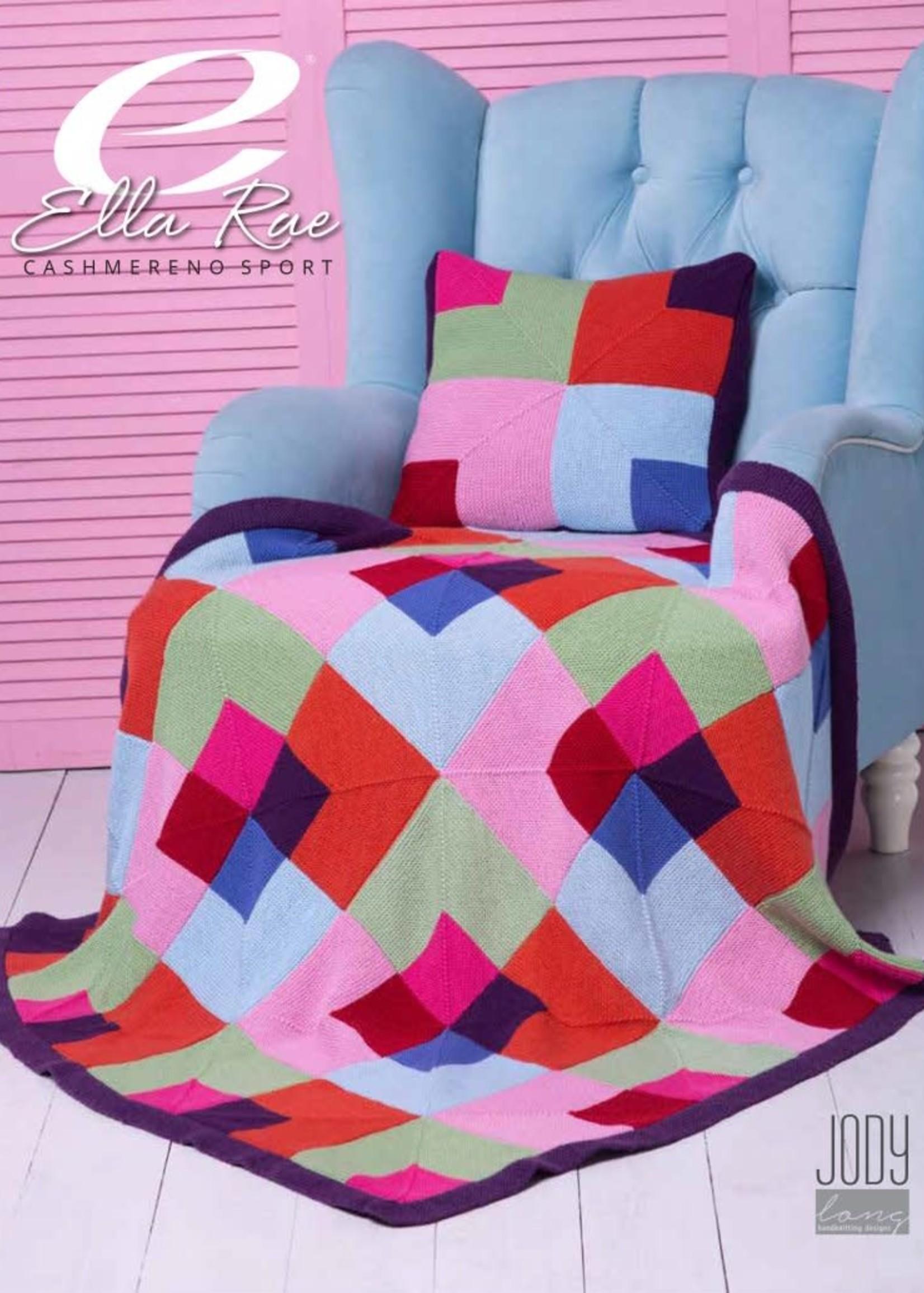 Ella Rae Ella Rae Pattern Stained Glass Blanket and Cushion