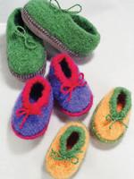 Fiber Trends Fiber Trends Crocheted Felt Slippers