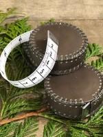 NNK Press Hand-stitched Leather Tape Measure - Espresso