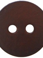 """Inspire Inspire Buttons 2 hole button leather brown 1 1/8"""" 9800790"""