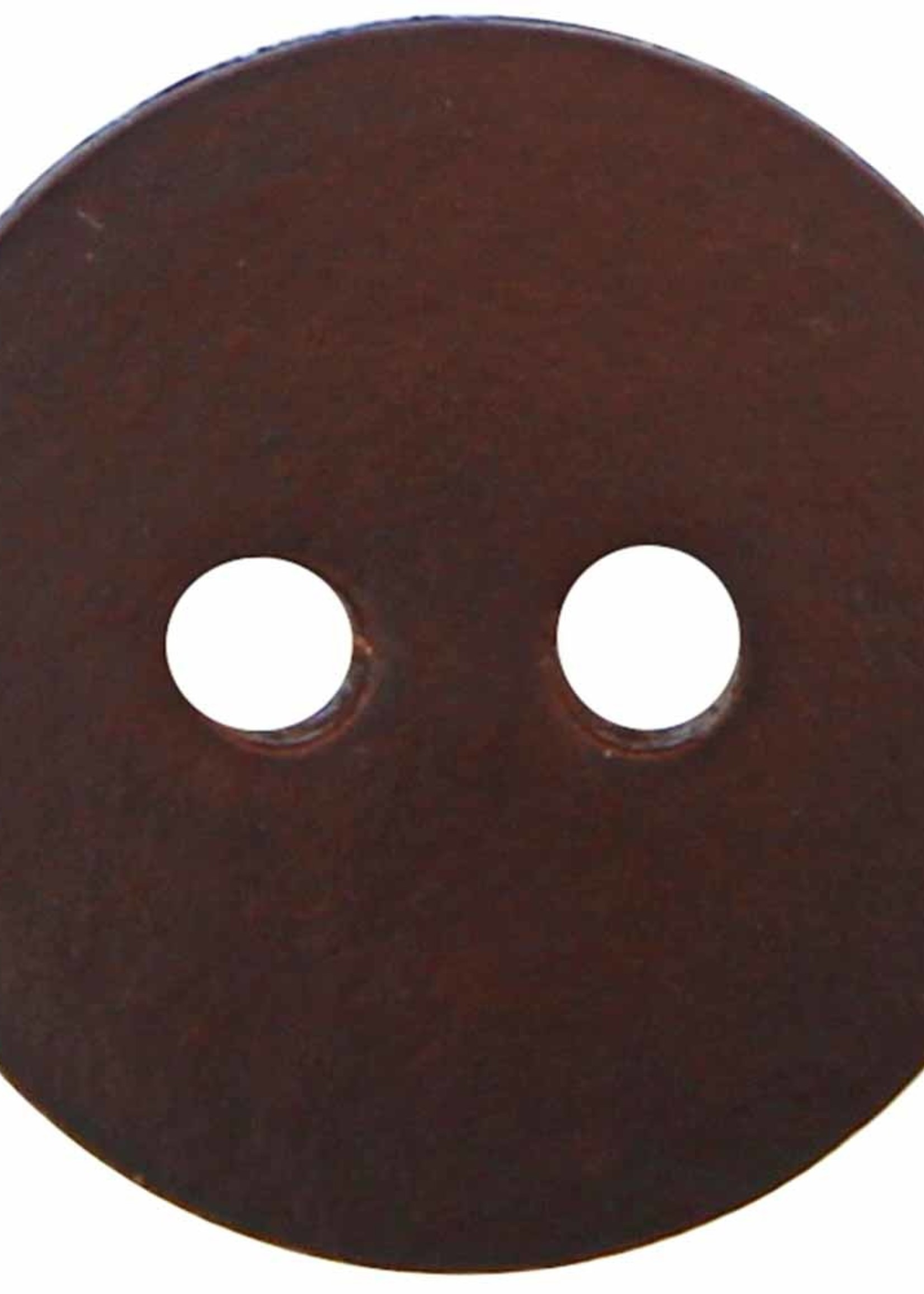 """Inspire Inspire Buttons 2 hole button leather brown 3/4"""" 9800770"""