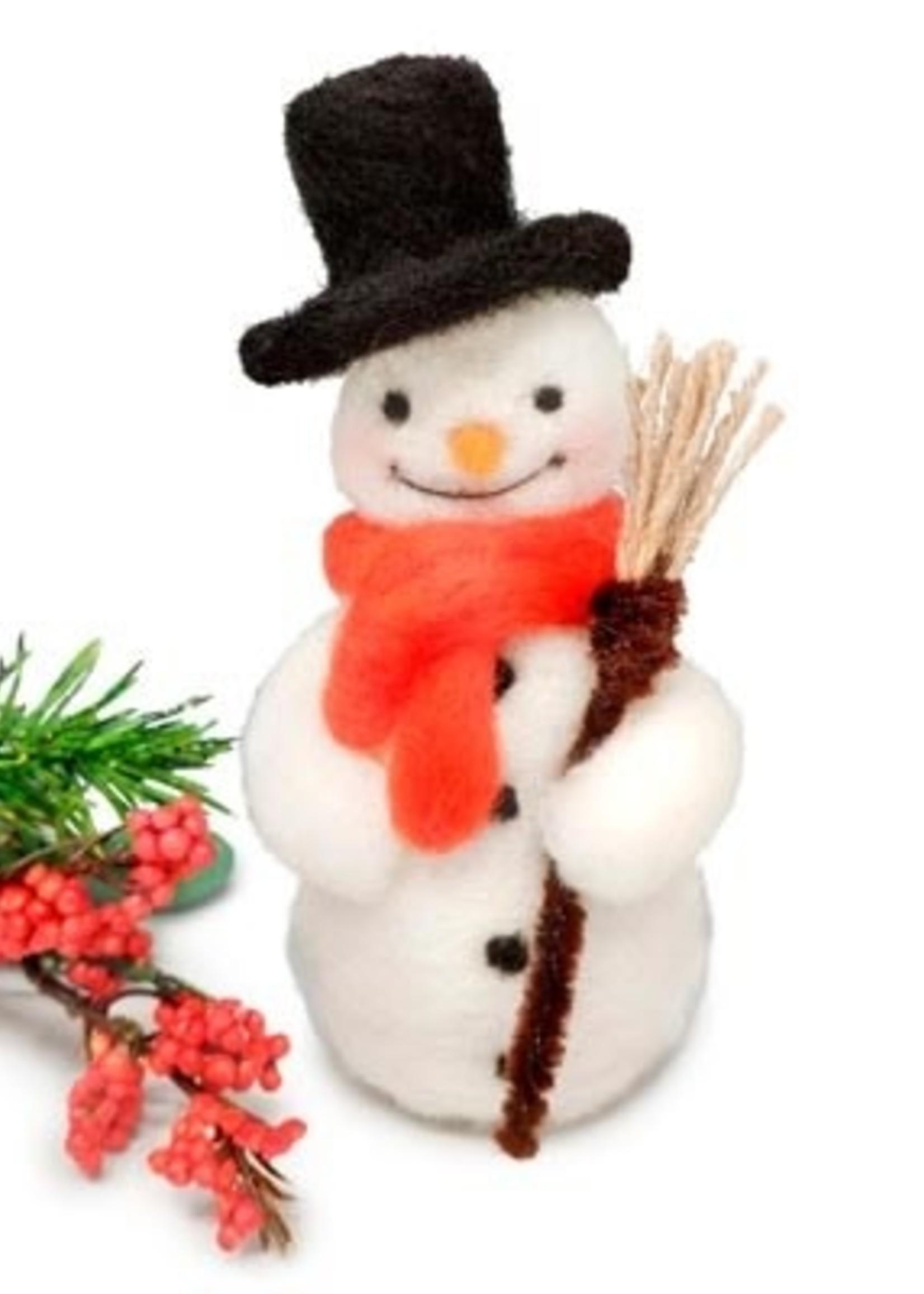 Crafty Kit Co. Jolly Snowman Needle Felting Kit