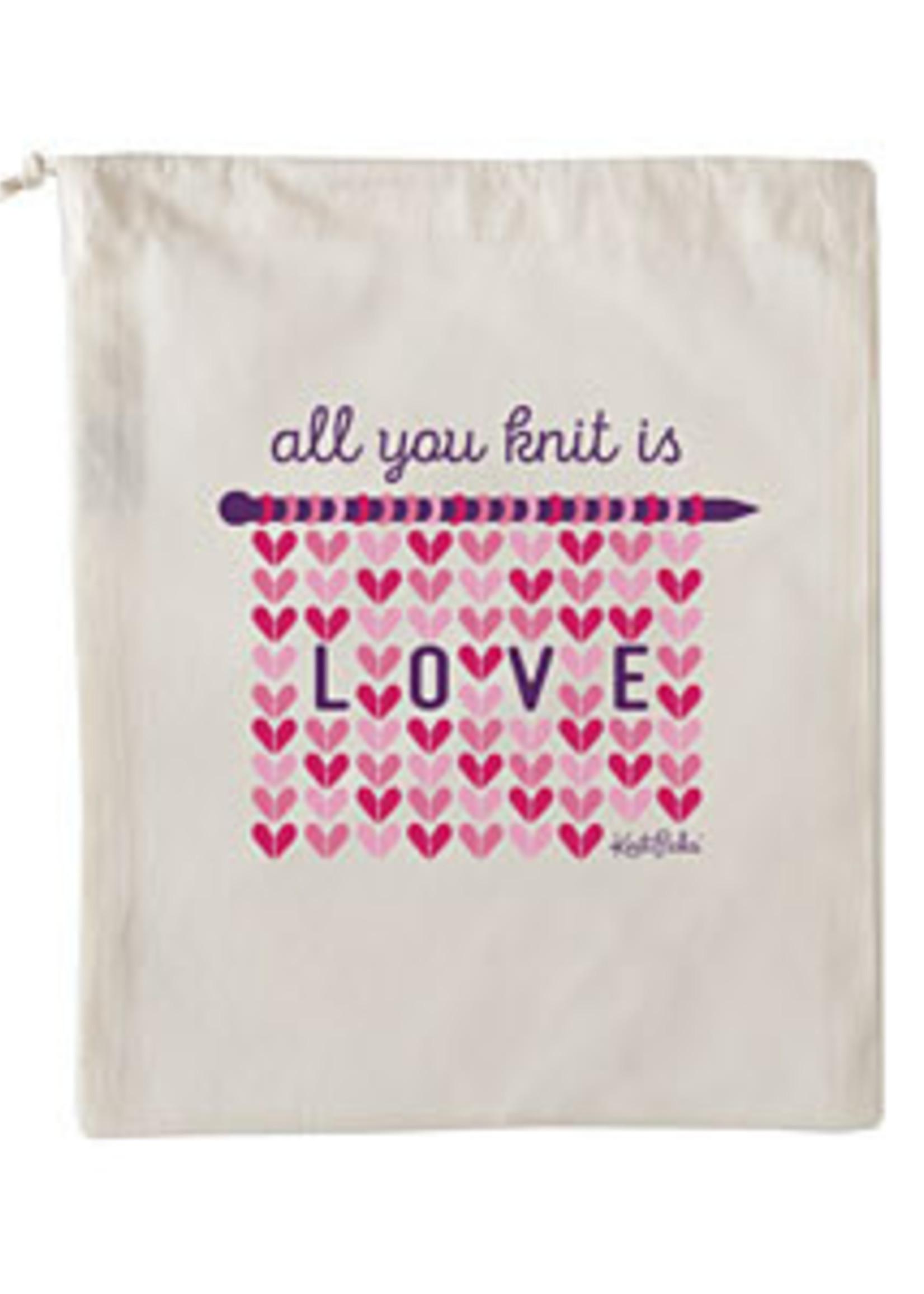 Knit Picks Knit Picks Project Bag - All You Knit is Love