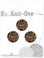 Knit-One Knit-One Button - 2 Hole Coconut Button - 23mm (7⁄8″) - Black
