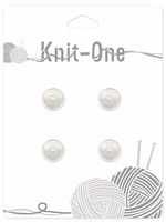 Knit-One Knit-One Button - 2 Hole Pearl Button - 13mm (1⁄2″) - Pearl