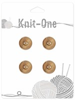 Knit-One Knit-One Button - 2 Hole Wood Button - 14mm (1⁄2″) - Natural
