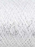 Kremke Soul Wool Kremke Stellaris Metallic Lace - 101 White Silver