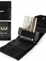 "Lykke Needles Lykke Crochet Hook Set - 6"" Driftwood - Black Faux Leather Case"
