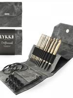 "Lykke Needles Lykke Crochet Hook Set - 6"" Driftwood - Grey Denim Case"