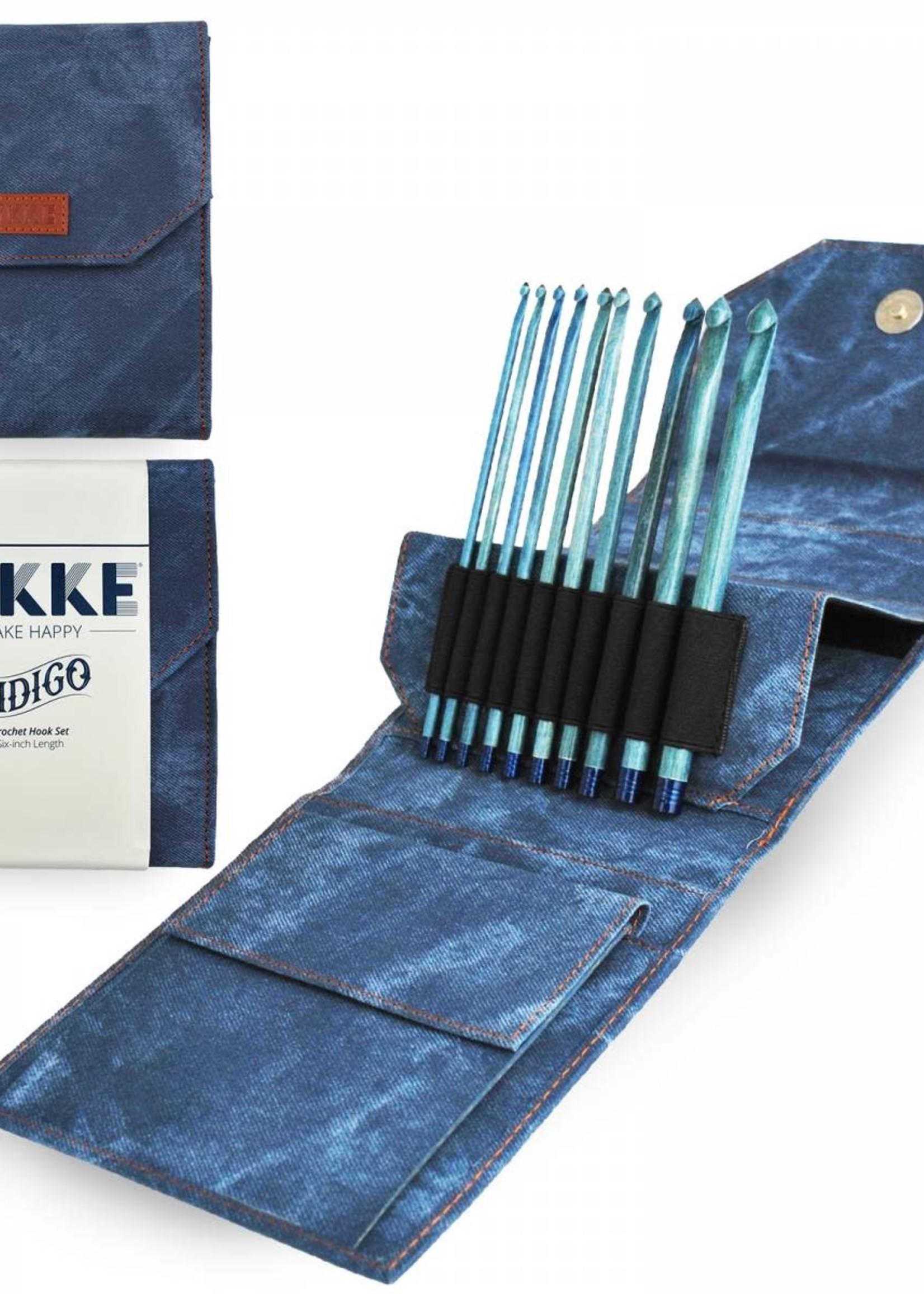 "Lykke Needles Lykke Crochet Hook Set - 6"" Indigo Driftwood - Indigo Case"