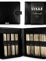 """Lykke Needles Lykke Double Pointed Set - 6"""" Driftwood Large - Black Faux Leather Case"""
