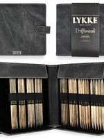 """Lykke Needles Lykke Double Pointed Set - 6"""" Driftwood Large - Grey Denim Case"""