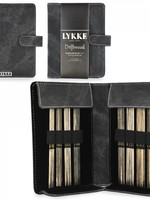 "Lykke Needles Lykke Double Pointed Set - 6"" Driftwood Small - Grey Denim Case"