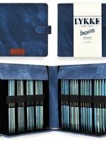 """Lykke Needles Lykke Double Pointed Set - 6"""" Indigo Driftwood Large - Indigo Case"""