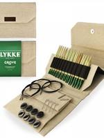 """Lykke Needles Lykke Interchangeable Set - 5"""" Bamboo - Beige Jute Canvas Case"""