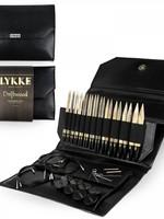 """Lykke Needles Lykke Interchangeable Set - 5"""" Driftwood - Black Faux Leather Case"""
