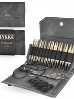 "Lykke Needles Lykke Interchangeable Set - 5"" Driftwood - Grey Denim Case"