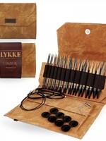 """Lykke Needles Lykke Interchangeable Set - 5"""" Umber Driftwood - Umber Case"""