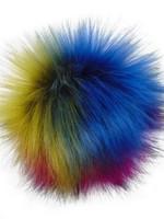 Pom Poms Pompoms with Snaps Rainbow