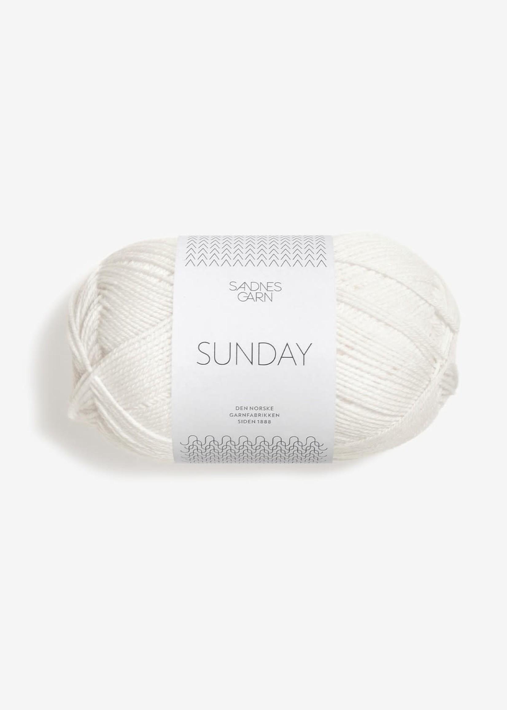 Sandnes Garn Sunday - #1001 Hvit