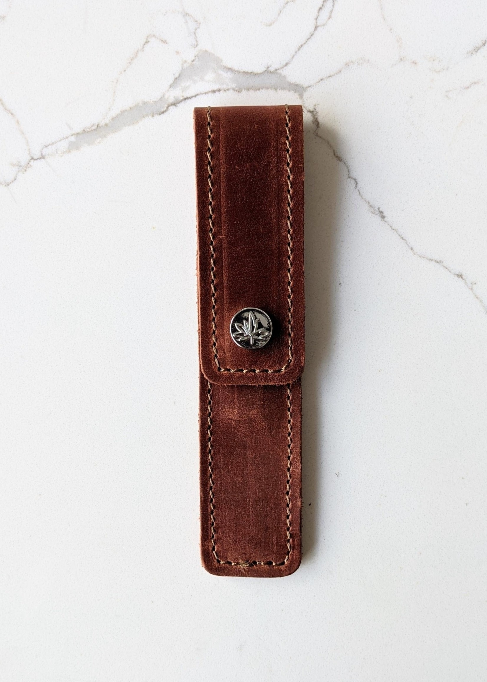 Thread and Maple Thread and Maple Leather Cable Needle Pouch - Whiskey