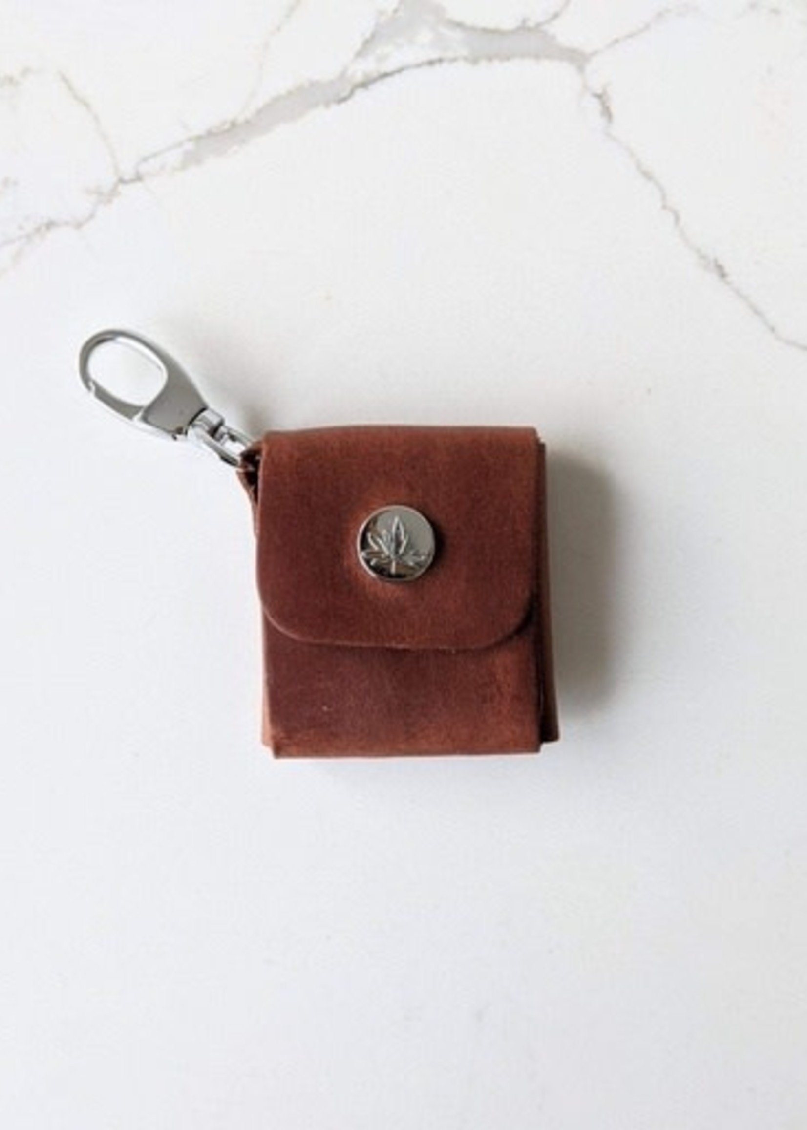 Thread and Maple Thread and Maple Leather stitch Markers Case - Whiskey