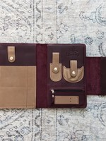 Thread and Maple Thread and Maple Notions Clutch - Wine/Cream